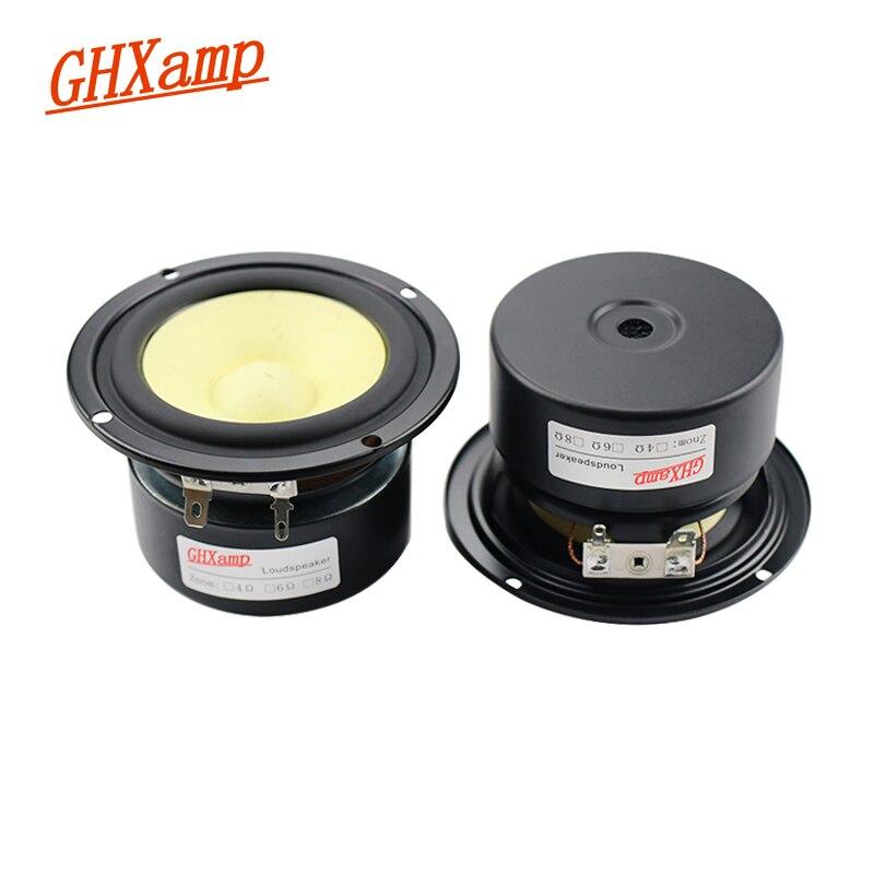 GHXAMP 3-дюймовый 4-омный Полнодиапазонный динамик, смешанное волокно, тройные басы среднего радиуса 8-15 Вт, 2 шт.