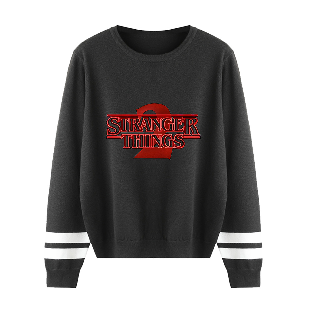 Stranger Things O-neck Sweater Men/women New Fashion Knitted Print Sweater Spring Autumn Winter Black Long Sleeve Sweaters Woman