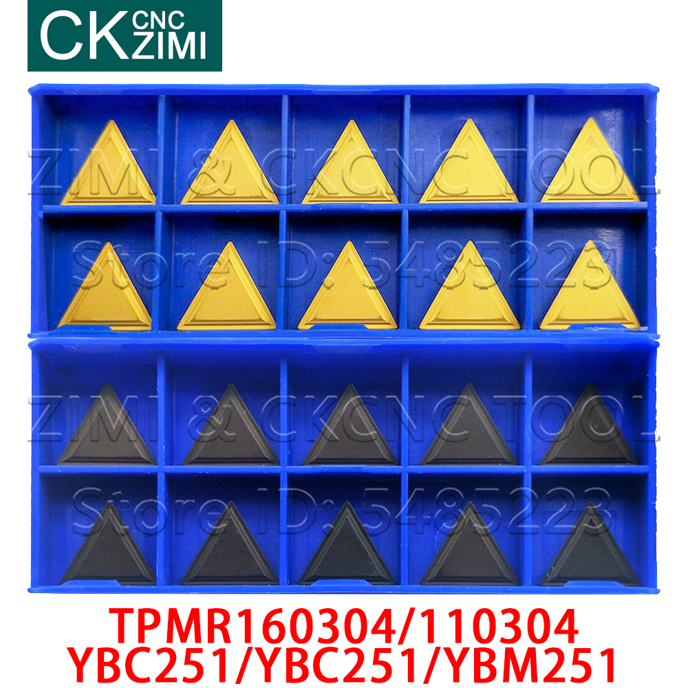 Milling Cutter TPMR160304 TPMR110304 YBC251 YBC251 YBM251 Carbide Turning Triangle Insert CNC Tool TPMR 160304 For Milling Steel