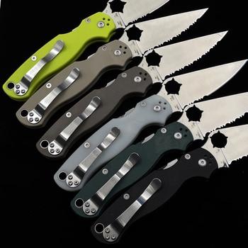 OIMG SPY PARA 2 C81 C10 C28 Folding Knife Outdoor Camping Hunting Pocket Kitchen Fruit EDC KNIVES 5