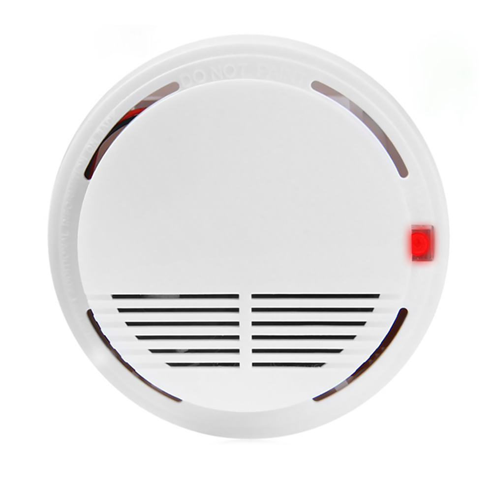 Smoke Detector LED Light Flashing Built-in Siren Sound Alarm Smoke Alert Detector 9V Battery Operated