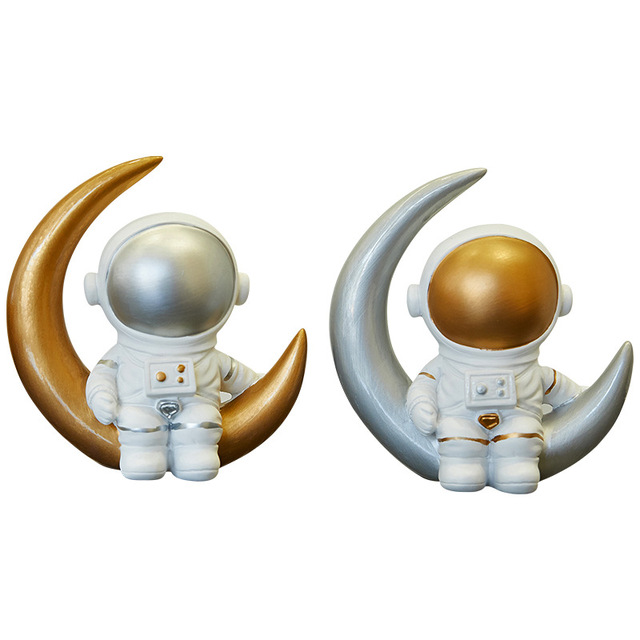 Nordic Style 3D Astronaut Figurines Home Decoration Crafts Moon Miniatures House Decor Planet Decorations for Kids Room Gifts 5