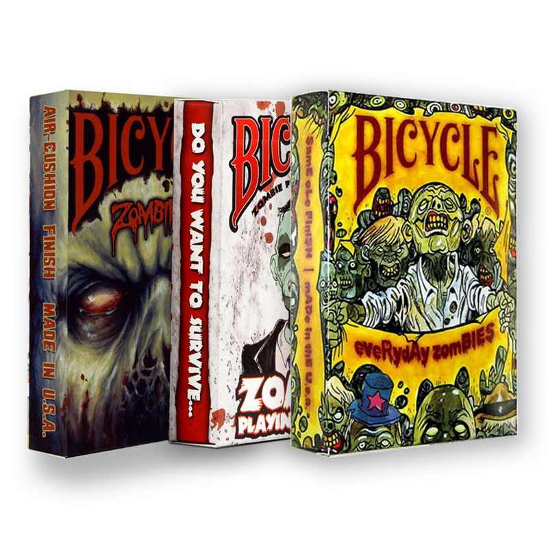 3 dek Fiets Zombie Speelkaarten Halloween Ghost Thema Poker USPCC Magic Card Games Goocheltrucs Props voor Goochelaar