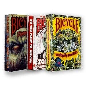 3 baralho bicicleta zumbi jogando cartas halloween tema fantasma poker uspcc magia jogos de cartas truques de magia adereços para o mágico