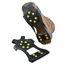 Shoe-Spikes Crampons Anti-Skid Winter Cleats Ice-Grips Snow S-M L-10 1-Pair Studs Climbing
