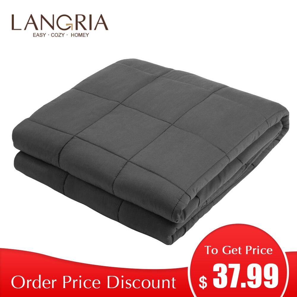 LANGRIA couverture pondérée 120x180 cm/150x200 cm pour adultes et enfants couverture lourde douce pour canapé-lit