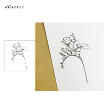 Jc Clear Rubber Stamps Fine Flower Transparent Silicone Scrapbooking Paper Card Making Craft Decoration New Stamp 2019