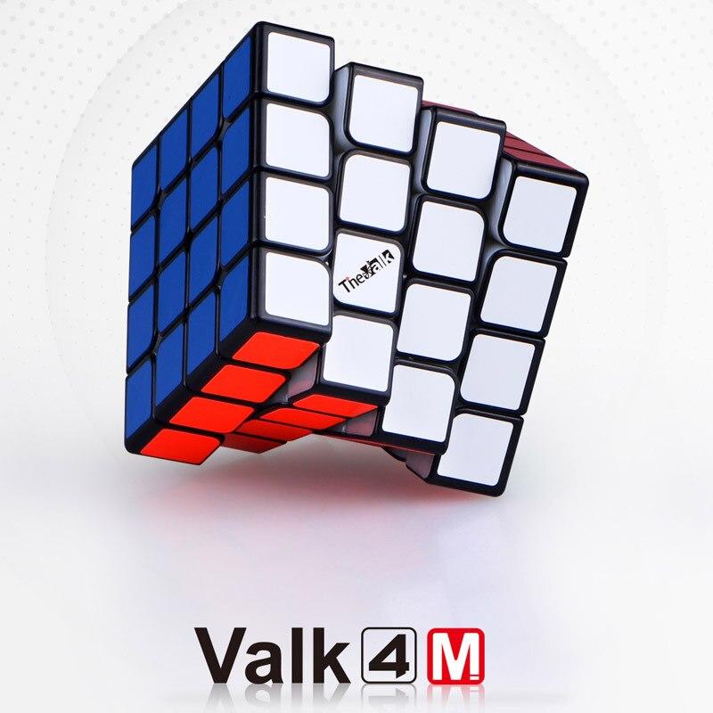 QIYI valk4M concours professionnel 4x4x4 Cube magique magnétique vitesse douce Puzzle 4x4 Cube jouets éducatifs cubo magico 60mm