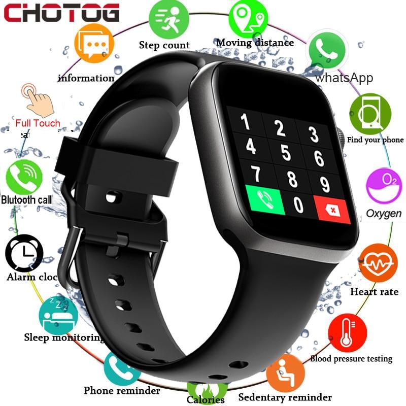 T500 Smart Watch Bluetooth Call Fitness Tracker Heart Rate Full Touch Smartwatch Men & Women Music Control Sport Watch IWO 1