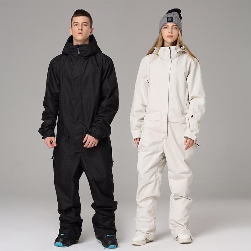 2019 Waterproof Hooded Men's Jumpsuits Sport Female Snow Overalls Women's Winter Outdoor Wear Snowboard Man Skiing Suits