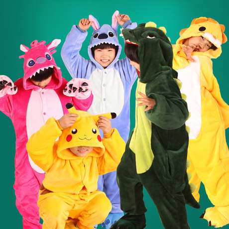 Monkey Pooh Bear Chinese Dragon Bat Frog Owl Cartoon Kids One-piece Pajama Comfortable Item Autumn And Winter
