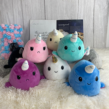 Cute Flipped Tortoise Plush Toy Color Chapter Double Sided Expression Marine Animal Plush Toy Plush Doll