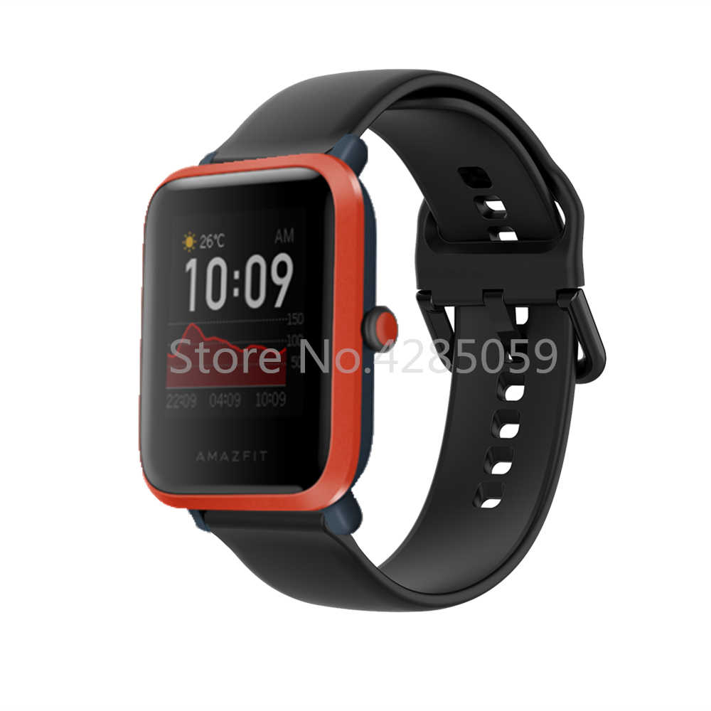 Bracelet de montre en Silicone pour Xiaomi Amazfit Bip S/Bip 1S/Bip 2 Bracelet de montre de Sport pour Huami Amazfit GTS BIP GTR 42mm Bracelet