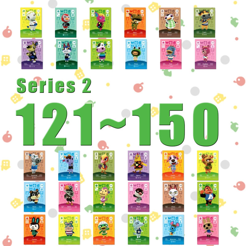 Amiibo Animal Crossing New Horizons Amiibo Card Set Work For NS Switch Games Series 2 (121 To 150)