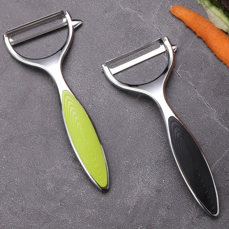 Овощечистка из нержавеющей стали, инструмент для фруктов, острый и прочный, кухонный аксессуар для чистки яблок, груши, картофеля, моркови