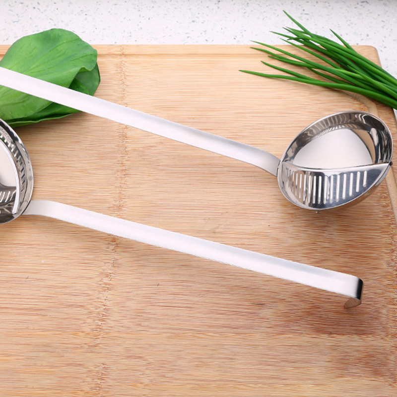 Креативная Ложка 2 в 1, дуршлаг с длинной ручкой, съемная каша, ложка с фильтром, кухонный инструмент для приготовления пищи