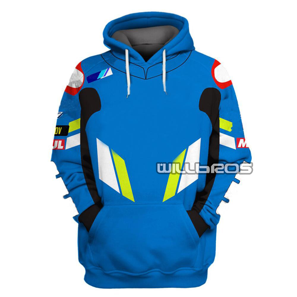 2019 Motorcycle Hoodies Sweatshirt For SUZUKI Motorbike Clothing Racing Team Sport Jacket
