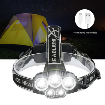 Powerfull Headlamp Rechargeable LED Headlight Body Motion Sensor Head Flashlight Camping Torch Light Lamp With USB
