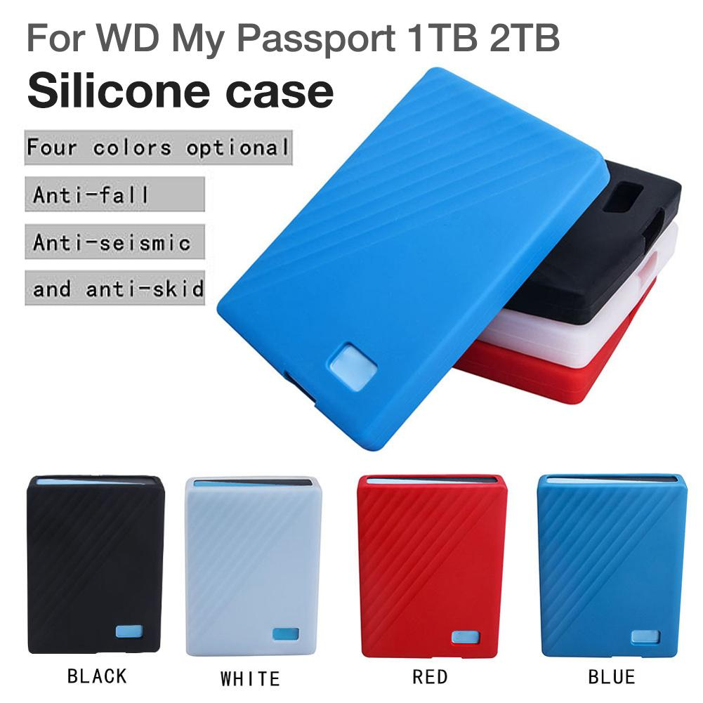 Hard Drive Silicone Bag Case Protector Shockproof Cover For WD My Passport