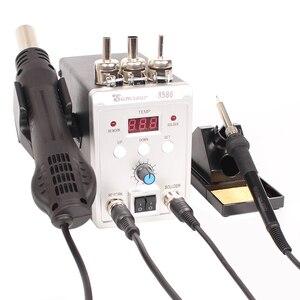 Image 5 - SMD עיבוד חוזר הלחמה תחנת 8586 700W 2 ב 1 תצוגה דיגיטלית אוויר חם אקדח הלחמה ברזל 220V / 110V ESD ריתוך תיקון כלים