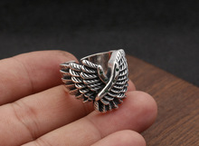 Wing Ring 925 Sterling Silver Fine jewelry for Men Fashion Party Domineering Personality Gift Brand hongclub 2017 new s990 sterling silver ring men jewelry magpie flower wedding brand ring women gift fine jewelry wholesale r18