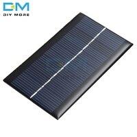 Panel Solar portátil de 6V y 1W, Módulo de placa de energía Solar, bricolaje, alta conversión de energía para batería de luz, cargadores de teléfono móvil de juguete