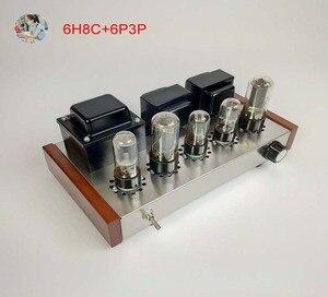 Image 1 - 2021 Nobsound Family 2.0 wzmacniacze lampowe DIY Kit 5U4C + 6H8C + 6P3P obudowa ze stali nierdzewnej moc wyjściowa 2*8W AC110V/220V