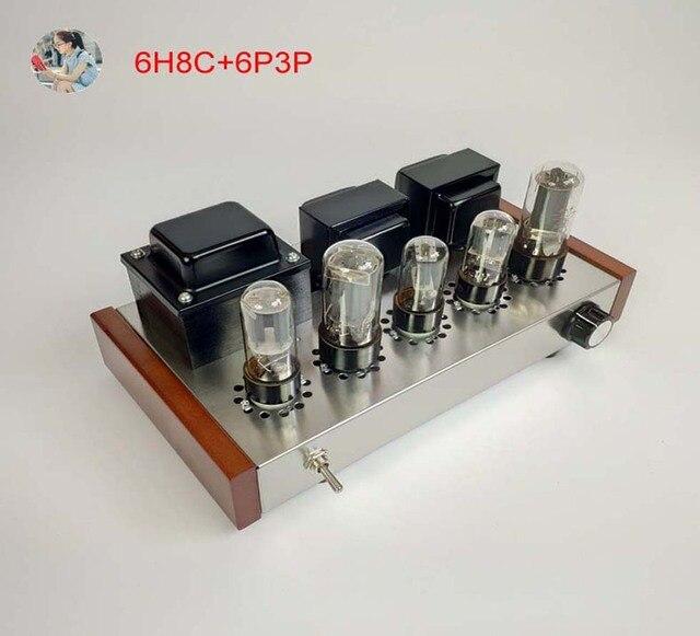 2021 Nobsound Family 2.0 wzmacniacze lampowe DIY Kit 5U4C + 6H8C + 6P3P obudowa ze stali nierdzewnej moc wyjściowa 2*8W AC110V/220V