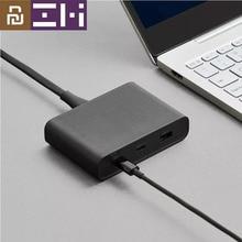 Youpin ZMI Caricabatteria Da Tavolo 65W 3 Porta PD3.0 USB 2C1A Per Android iOS Interruttore PD 3.0 di CONTROLLO di QUALITÀ Intelligente di Uscita max Solo c1 65w c2 1