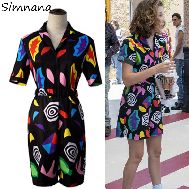Girls Stranger Things 3 Eleven Cosplay Costume EL Cosplay Dress Women Halloween Carnival Party Props