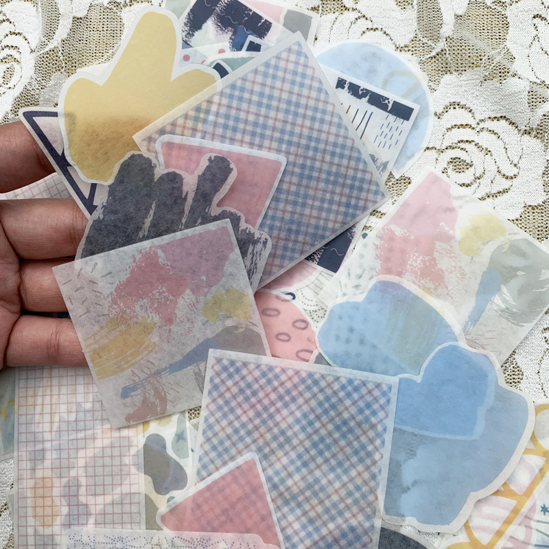 60pcs Cute Stationery Stickers Posted It Kawaii Stickers Bullet Journal Planner Scrapbooking Escolar School Supplies For Kids