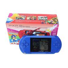 Lecteur de jeu portable vidéo 16 bits PXP3 Console de jeu avec câble AV Support TV-out 2 cartes de jeu PXP 3 Station mince classique
