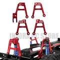 4 шт. CNC алюминиевые красные передние и задние амортизаторы крепления для 1/10 RC Гусеничный автомобиль осевой SCX10 II обновленная часть
