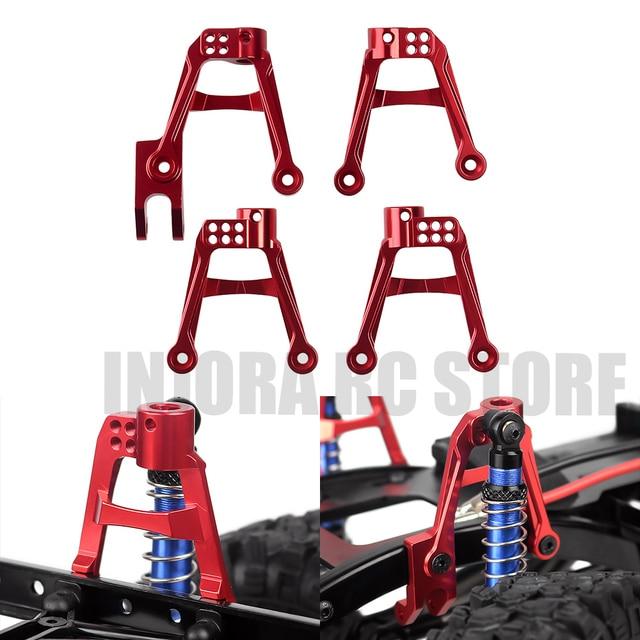 4pcs CNC אלומיניום אדום מול & אחורי 1/10 הלם בולמי הר לrc Crawler הצירי SCX10 השני שדרוג חלק