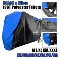 Motorrad Abdeckung Alle Saison Wasserdichte Staubdicht UV Schutz Outdoor Indoor Lock-löcher Design Motorrad Regen Abdeckungen Mantel D45