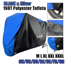 Moto couverture toutes les saisons étanche à la poussière UV protection extérieure intérieure serrure-trous conception moto pluie couvre manteau D45
