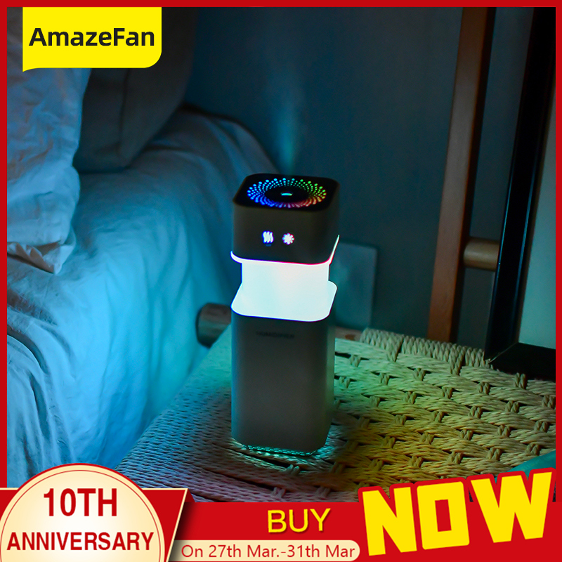 Air Humidifier USB Charging Spin Discoloration Led Night Light Aromatherapy Essential Oil Aroma Diffuser Home Car Office
