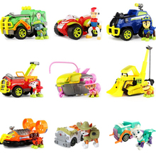 New Paw Patrol Toys Set Toy Car Dog Jungle patrol Action Figures Everest Ryder Sound Anime Model for Children Gift