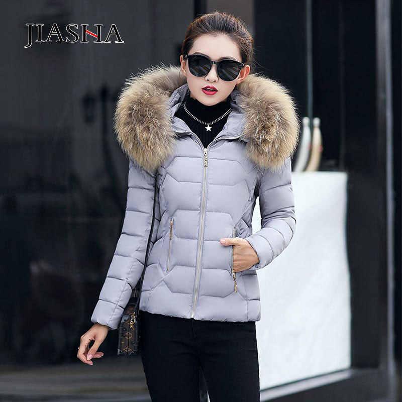 Vestes d'hiver femmes 2019 hauts nouveau chaud col de fourrure à capuche femme parkas femmes manteaux en duvet chaud vêtements d'extérieur en coton manteau d'hiver femmes