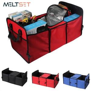 Folding Car Storage Box Fabric Storage Bag Car Trunk Container Auto Car Organizer Insulation Storage Box for Tools Sundries
