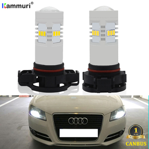 Image 1 - CANBUS No Error White H16 5202 PS19W PSY24W P21W LED Bulbs For AUDI A3 8P Sportback LED DRL Daytime Running lights 2003 2013