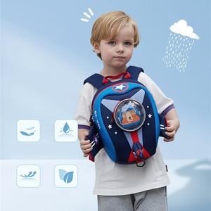 Image 5 - طفل على ظهره مع طقم حزام السلامة المقود الاطفال صاروخ على ظهره للبنين بنات ، حقيبة مدرسية مقاوم للماء لرياض الأطفال ما قبل المدرسة