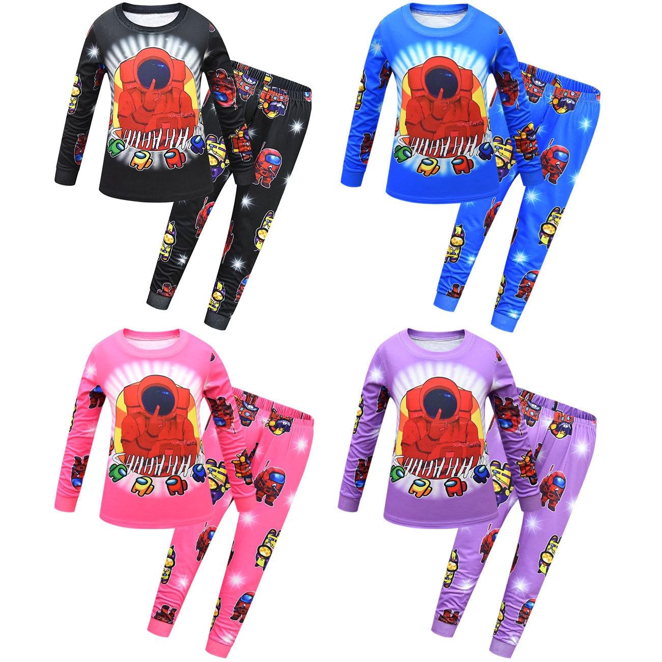 Snug Children Pajamas Clothing Set Kids 3D Print Among Us Video Game Cartoon Sleepwear Autumn Nightwear Boys Girls Pyjamas Set