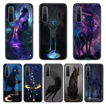 Animal Beast Wolf Dog Phone Case For Huawei Nova p10 lite 7 6 5 4 3 Pro i p Smart ZBlack Etui 3D Coque Painting Hoesje image
