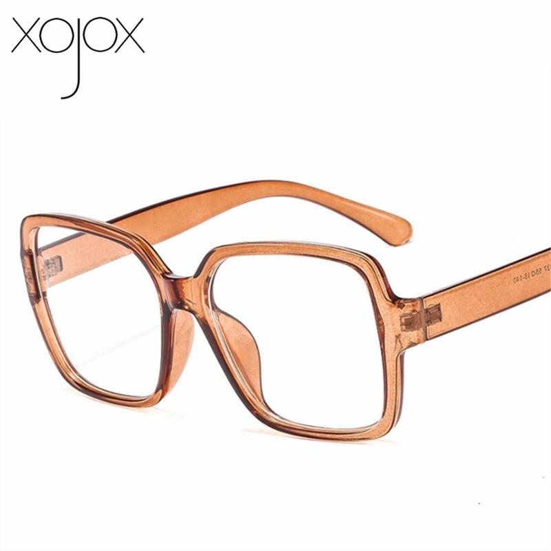 XojoX Oversized Glasses Frames Women Men Optical Fashion Fake Eyewear Computer Glasses Unisex Vintage Spectacle Frame