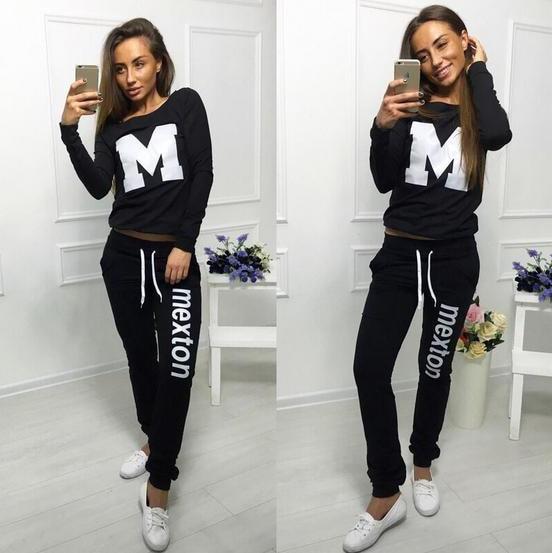2020 New Design Fashion Hot Sale Suit Set Women Tracksuit Two-piece Style Outfit Sweatshirt Sport Wear