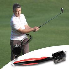 Golf Club Brush Groove Cleaning 2 Sided Wedge Ball Cleaner Kit Tool Accessories
