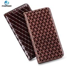 Diamond Pattern Genuine Leather Case For Huawei Nova 8 SE Pro luxury Leather Flip Cover