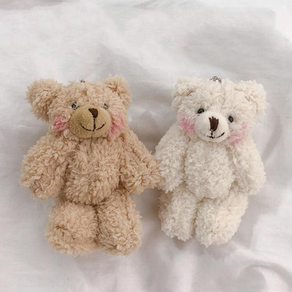 Cute Bear Animal Plush Doll Key Chains Hanging Keychain Ring Bag Phone Decoration Key Ring Pendant