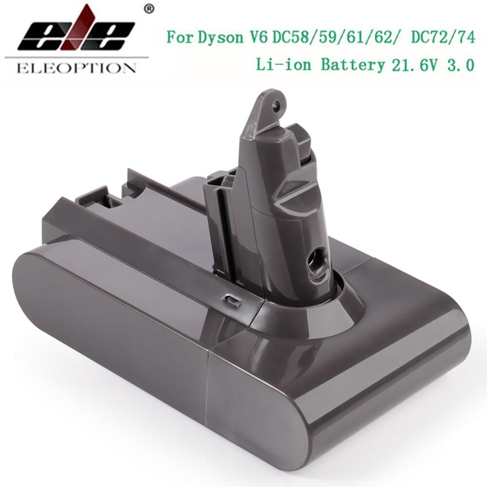 3000mAh 21.6V 3.0 Li-ion Batterie pour Dyson V6 DC58 DC59 DC61 DC62 DC74 SV09 SV07 SV03 965874-02 Aspirateur Batterie et 2.2mAh